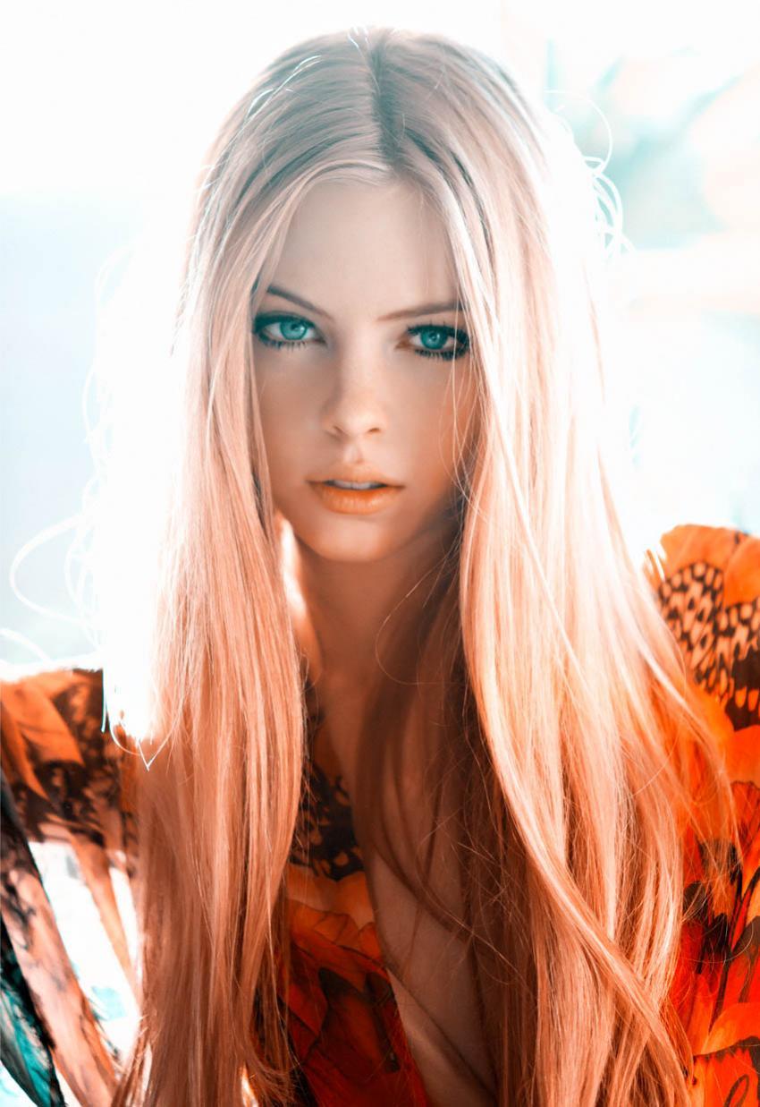 Фото красивых девушек казашек блондинок